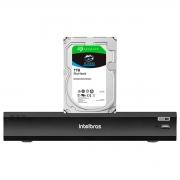 DVR Gravador Intelbras de Vídeo Digital iMHDX 3008 Facial 8 Canais Full HD 4mp Lite + HD Para Armazenamento Skyhawk 1TB