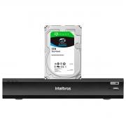 DVR Gravador Intelbras de Vídeo Digital iMHDX 3008 Facial 8 Canais Full HD 4mp Lite + HD Para Armazenamento Skyhawk 3TB