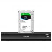 DVR Gravador Intelbras de Vídeo Digital iMHDX 3008 Facial 8 Canais Full HD 4mp Lite + HD Para Armazenamento Skyhawk 4TB