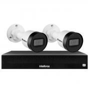 Kit 2 Câmeras de Segurança Bullet Intelbras Full HD 1080p VIP 1230 B + NVR 1304 de 4 Canais IP+ App Grátis de Monitoramento