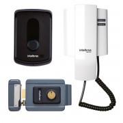 KIT Porteiro Residencial IPR 8010 Intelbras + 1 Monofone + 1 Fechadura FX 2000