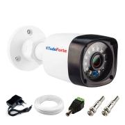 Câmera de Segurança Tudo Forte Full HD 1080p 2MP Bullet - Visão Noturna IR 20 Metros + Cabo + Acessórios Para Instalação