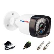 Câmera de Segurança Tudo Forte Full HD 1080p 2MP Bullet - Visão Noturna IR 20 Metros + Acessórios Para Instalação