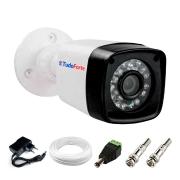 Câmera de Segurança Tudo Forte HD 720p 1MP Bullet - Proteção IP66 - Visão Noturna IR 20 Metros + Cabo e Acessórios Para Instalação