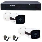 Kit 02 Câmeras de Segurança IP 1Mp HD 720p Intelbras VIP 1120 B + NVD 1108 Intelbras, NVR ,HVR