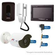 Kit Porteiro Intelbras IPR8010 com 02 Câmeras Infra Bullet HD 720p e Tela Monitor 7