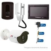 Kit Porteiro Intelbras IPR8010 com 01 Câmeras Infra Bullet e Tela Monitor 7