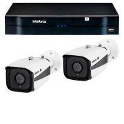 Kit 02 câmeras ip full hd intelbras vip 1220 b g3 + nvd 1204