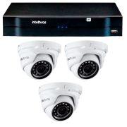 Kit 03 câmeras ip full hd intelbras vip 1220 d g3 + nvd 1204
