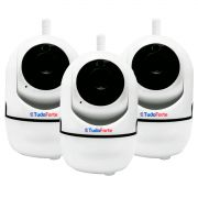 Kit 03 Câmeras Wifi IP HD 720p Sem Fio Tudo Forte 1.3MP
