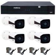 Kit 04 Câmeras de Segurança IP 1Mp HD 720p Intelbras VIP 1120 B + NVD 1108 Intelbras, NVR ,HVR