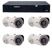 Kit 04 Câmeras de Segurança IP 1Mp HD 720p Intelbras VIP S 3020 G2 + NVD 1108 Intelbras, NVR, HVR
