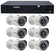 Kit 06 Câmeras de Segurança IP 1Mp HD 720p Intelbras VIP S 3020 G2 + NVD 1108 Intelbras, NVR, HVR
