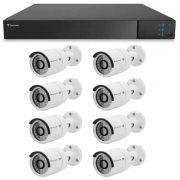 Kit 08 Câmeras de Segurança Full HD 1080p Tecvoz QCB-236 + DVR Tecvoz Flex Full HD + Acessórios