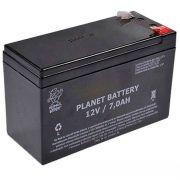 Kit 10 Bateria de Alarme, Cerca Elétrica Selada 12V 7A Planet Battery