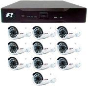 Kit 10 Câmeras de Segurança 1080N  Focusbras FS-MDF2M + DVR Focusbras 1080N + Acessórios