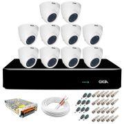 Kit Orion Giga Security 10 Câmeras HD 720p GS0019 + DVR Full HD + Acessórios