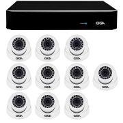 Kit 10 câmeras de segurança 4 megapixels ultra hd 2k giga security gs0041 + dvr giga security 4mp + acessórios