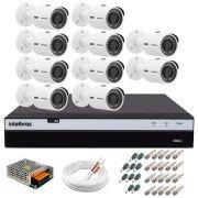 Kit 10 Câmeras de Segurança 4MP 2k Intelbras VHD 3430 B + DVR Intelbras 4K + Acessórios