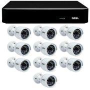 Kit 10 Câmeras de Segurança Full HD 1080p Giga Security GS0029  + DVR Giga Security 4MP + Acessórios