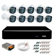 Kit 10 Câmeras de Segurança Full HD 1080p Giga Security gs0271  + DVR Giga Security 2MP + Acessórios