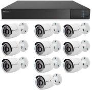 Kit 10 Câmeras de Segurança Full HD 1080p Tecvoz QCB-236 + DVR Tecvoz Flex Full HD + Acessórios