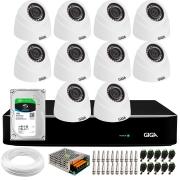 Kit 10 Câmeras de Segurança HD 720p Giga GS0019 Orion + DVR Giga Security + HD 1TB + Acessórios