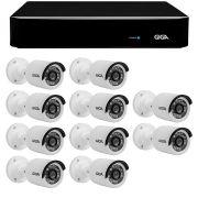 Kit 10 Câmeras de Segurança HD 720p Giga Security GS0013  + DVR Giga Security Multi HD + Acessórios