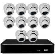 Kit Orion HD 720p 10 Câmeras GS0021 + DVR Giga Security + Acessórios