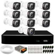 Kit 10 Câmeras de Segurança HD 720p Giga Security GS0018  + DVR Giga Security  + Acessórios
