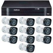Kit 10 Câmeras de Segurança HD 720p Intelbras VHD 3130B G4 + DVR Intelbras Multi HD + Acessórios