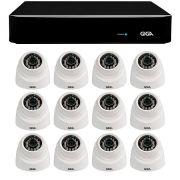 Kit 12 Câmeras de Segurança 1MP HD 720p Giga Security GS0012 + DVR Full HD 1080N 5 em 1 Giga Security + Acessórios