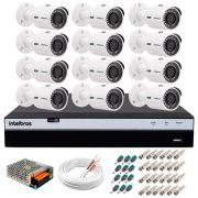 Kit 12 Câmeras de Segurança 4MP 2k Intelbras VHD 3430 B + DVR Intelbras 4K + Acessórios