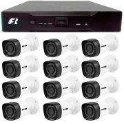 Kit 12 Câmeras de Segurança Bullet HD 720p HB Tech + DVR Focusbras + Acessórios
