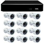 Kit 12 Câmeras de Segurança Full HD 1080p Giga Security GS0029  + DVR Giga Security 4MP + Acessórios