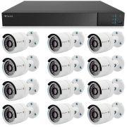 Kit 12 Câmeras de Segurança Full HD 1080p Tecvoz QCB-236 + DVR Tecvoz Flex Full HD + Acessórios