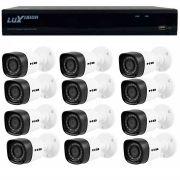 Kit 12 Câmeras de Segurança HB Tech HD 720p + DVR Luxvision All HD 5 em 1 ECD + Acessórios