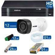 Kit 12 Câmeras de Segurança HD 720p HB Tech + DVR Intelbras Multi HD + Acessórios