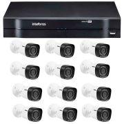 Kit 12 Câmeras de Segurança HD 720p Intelbras VHD 1120B G4 + DVR Intelbras Multi HD + Acessórios