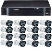 Kit 12 Câmeras de Segurança HD 720p Intelbras VHD 3130B G3 + DVR Intelbras Multi HD + Acessórios