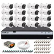 Kit 16 Câmeras de Segurança 4MP 2k Intelbras VHD 3430 B + DVR Intelbras 4K + Acessórios
