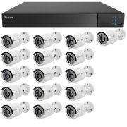 Kit 16 Câmeras de Segurança Full HD 1080p Tecvoz QCB-236 + DVR Tecvoz Flex Full HD + Acessórios