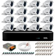 Kit 16 Câmeras Orion GS0022 HD 720p Giga Security + DVR Giga Security Multi HD + Acessórios