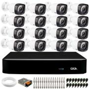 Kit 16 Câmeras de Segurança HD 720p Giga Security GS0020  + DVR Giga Security + Acessórios