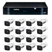 Kit 16 câmeras ip full hd intelbras vip 1220 b g3 + nvd 1216