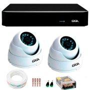 Kit 2 Câmeras de Segurança 4 Megapixels Ultra HD 2k Giga Security GS0041  + DVR Giga Security 4MP + Acessórios