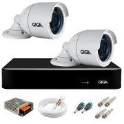 Kit 2 Câmeras  5MP + DVR Giga +  App de Monitoramento, Câmeras 30m Infravermelho de Visão Noturna Giga Security GS0047 Completo com Acessórios