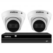 Kit 2 Câmeras de Segurança Dome Intelbras Full HD 1080p VIP 1230 D G2 + Gravador Digital de Vídeo NVR NVD 1404 - 4 Canais Intelbras