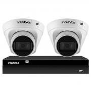 Kit 2 Câmeras de Segurança Dome Intelbras Full HD 1080p VIP 1230 D G2 + Gravador Digital de Vídeo NVR NVD 1404 Intelbras  - 4 Canais + App Grátis de Monitoramento
