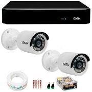 Kit 2 Câmeras de Segurança Full HD 1080p Giga Security GS0027  + DVR Giga Security 4MP + Acessórios